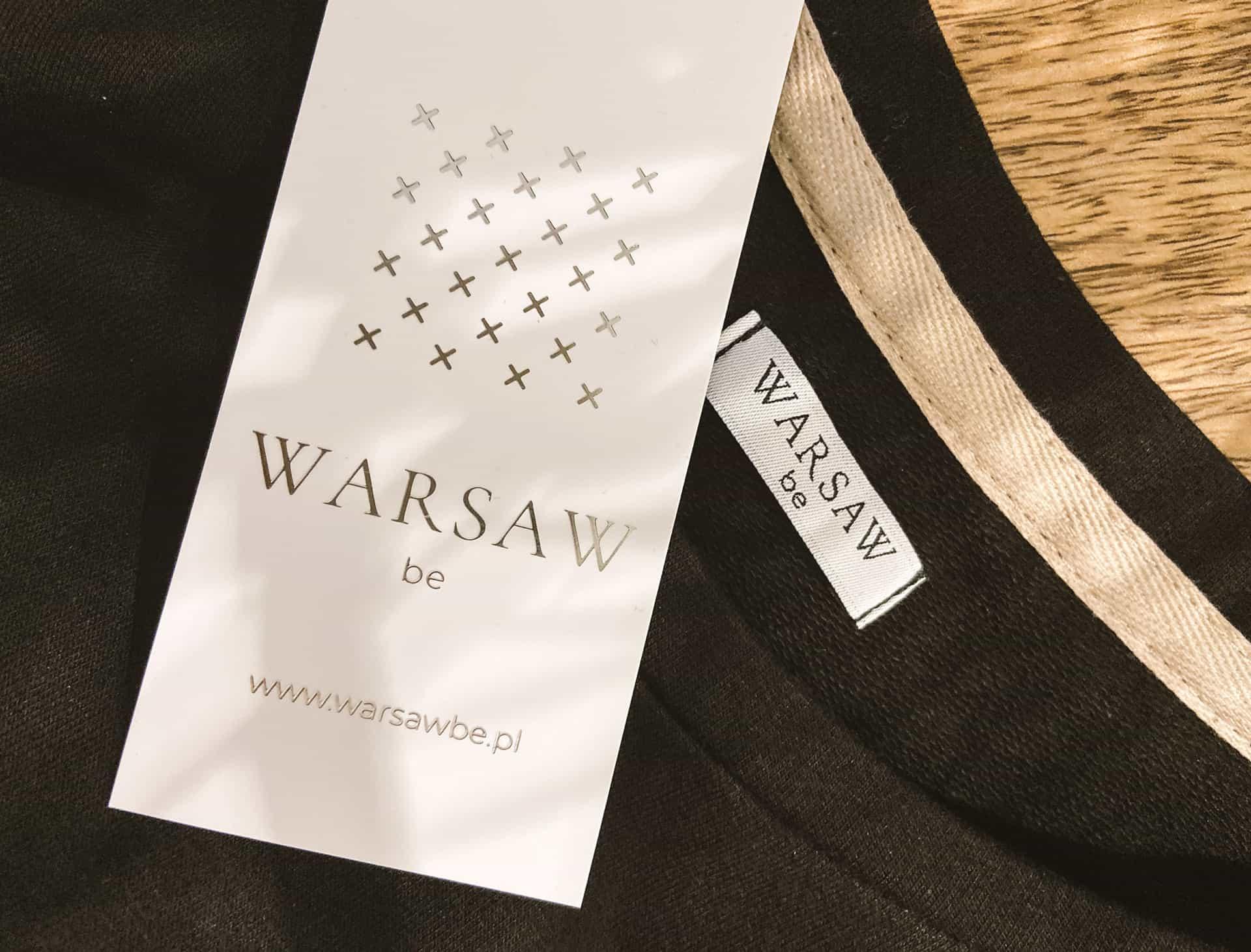 metki ze srebrzonym logo Warsaw Be