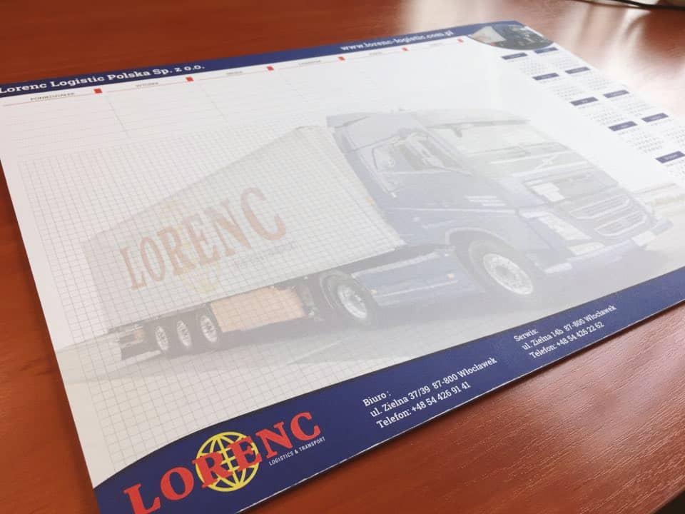 biuwary firmowe z logo Lorenc