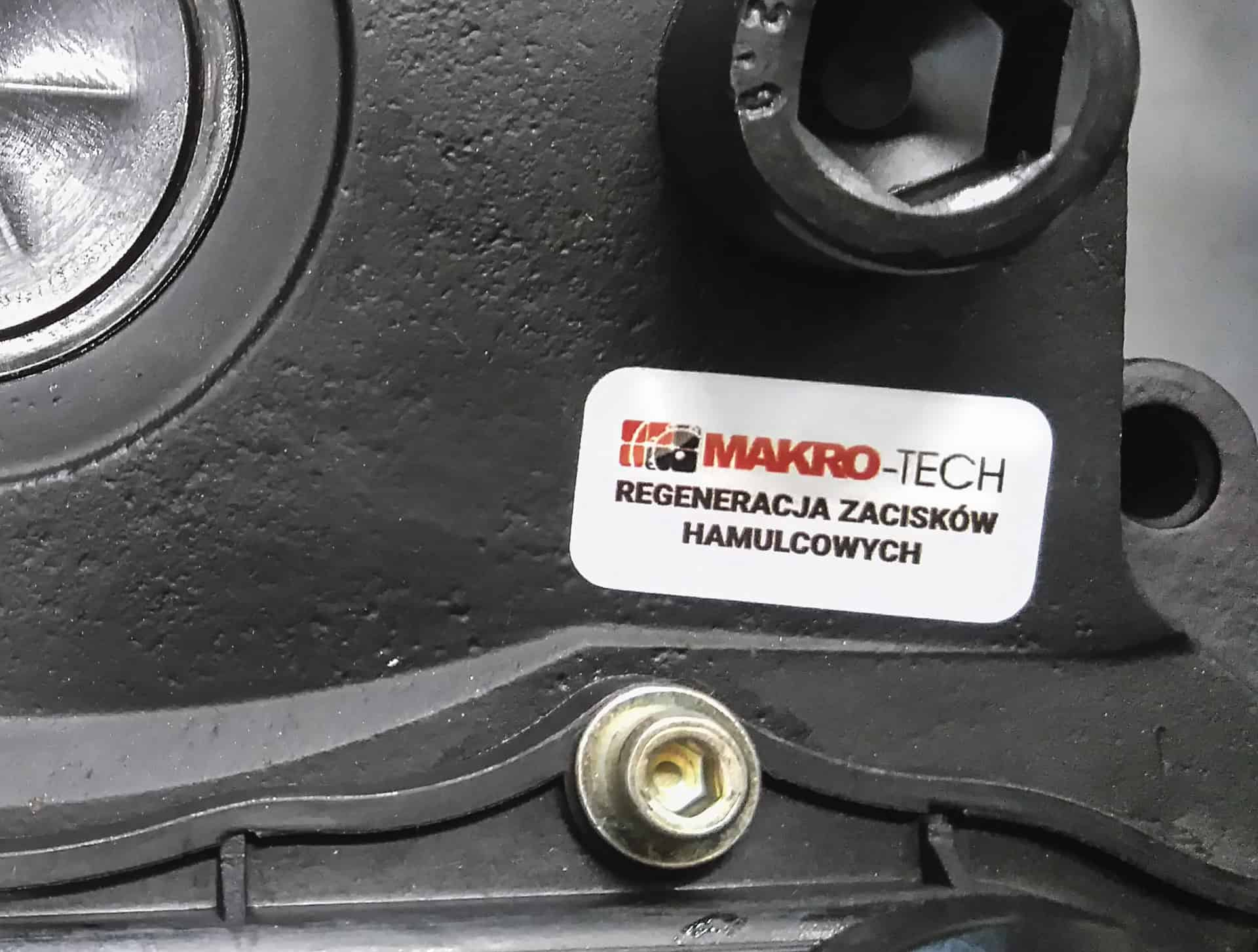 naklejki z logo Makro-Tech