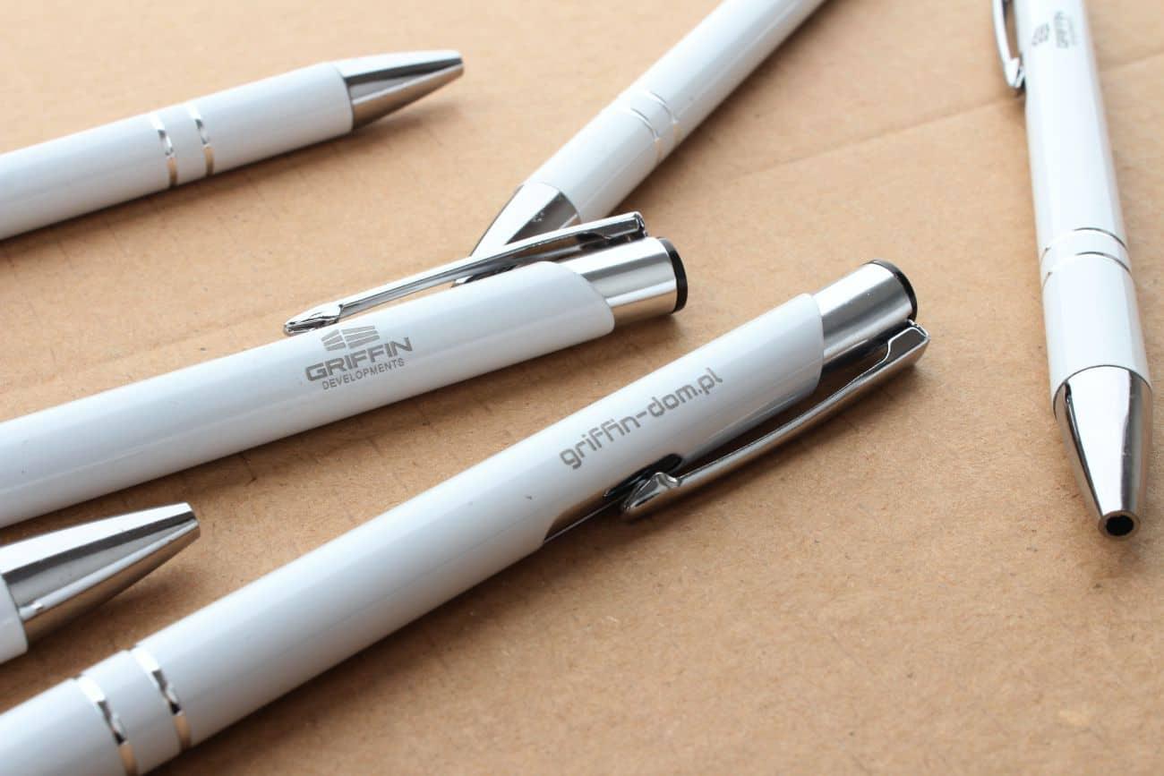 długopisy z nadrukiem dla firmy Griffin developments