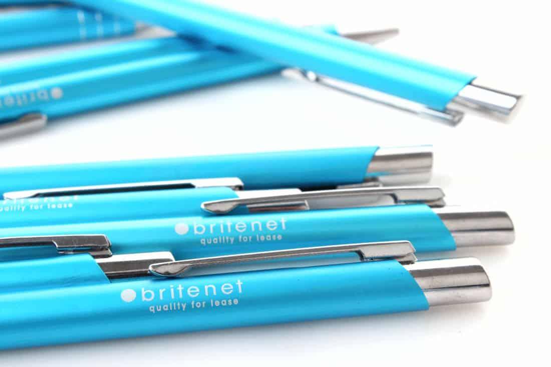 realizacja na długopisy reklamowe dla firmy britenet