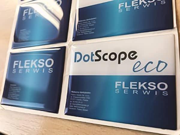 naklejki reklamowe 3d z nadrukiem DotScope Flekso serwis