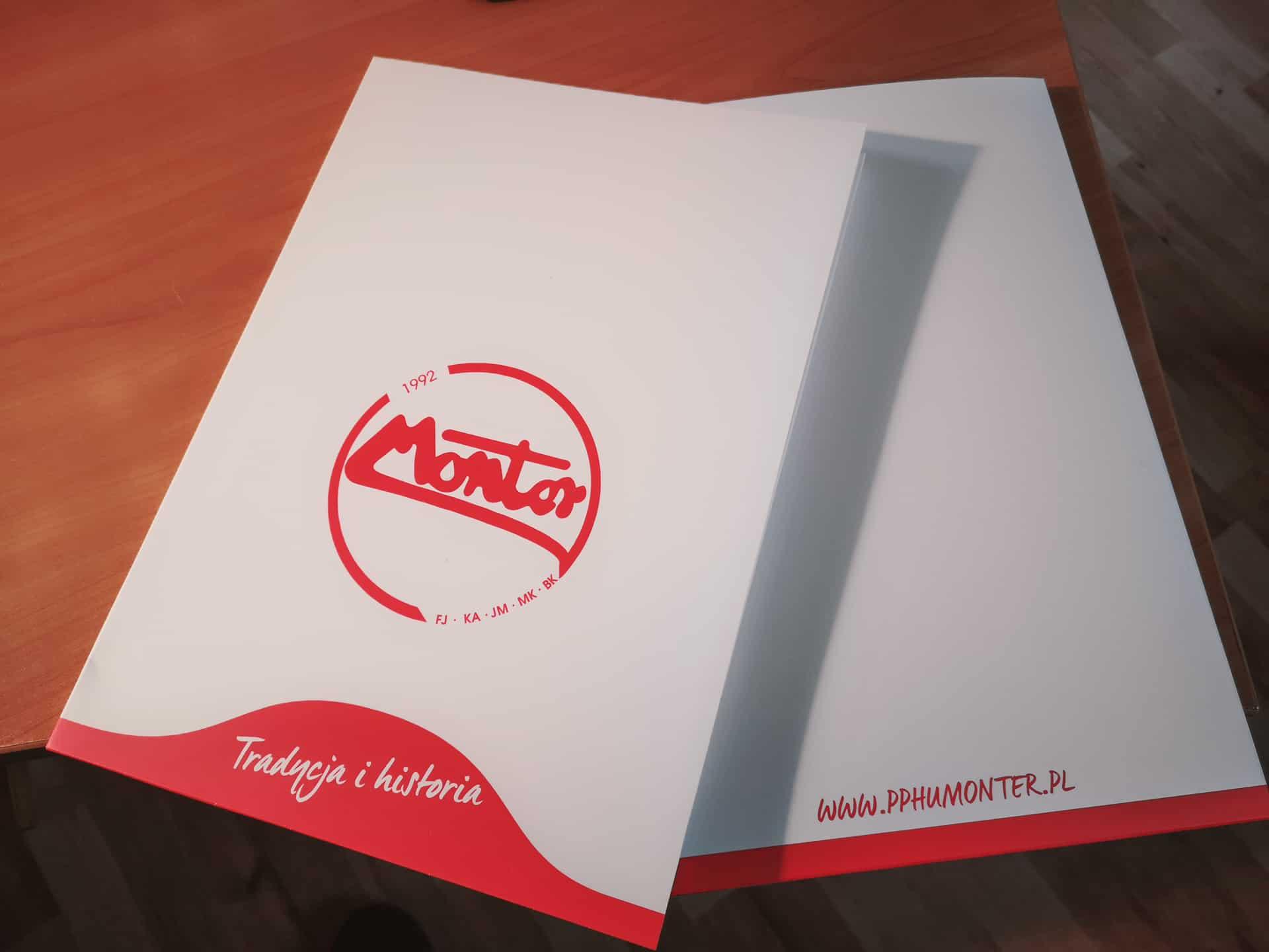 teczki reklamowe z logo montor