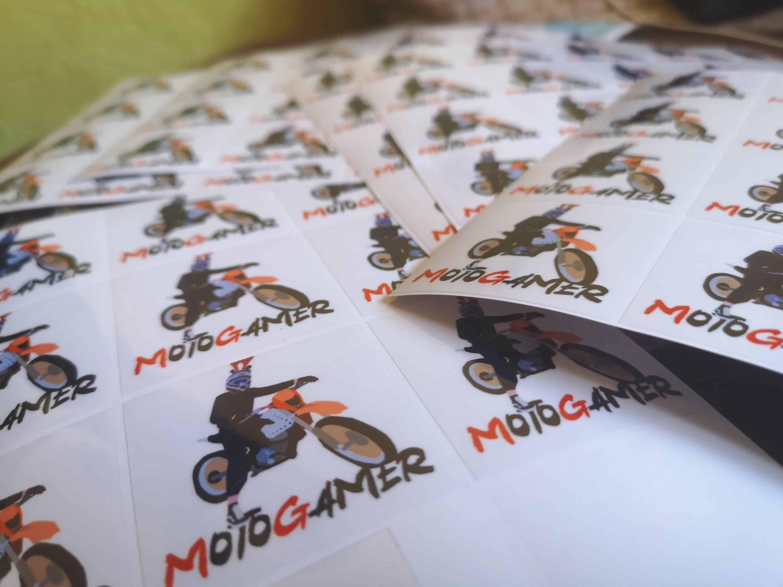 naklejki płaskie z nadrukiem MotoGamer