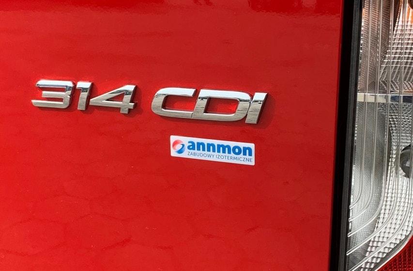 naklejka z logo annmon przyklejona na samochód