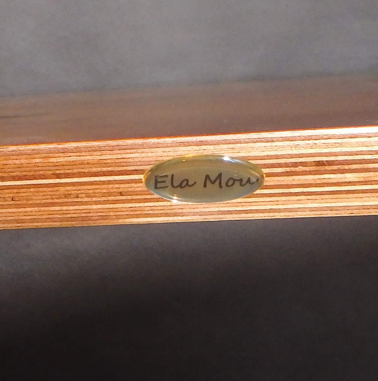 naklejki wypukłe 3d złote z napisem Ela Mou