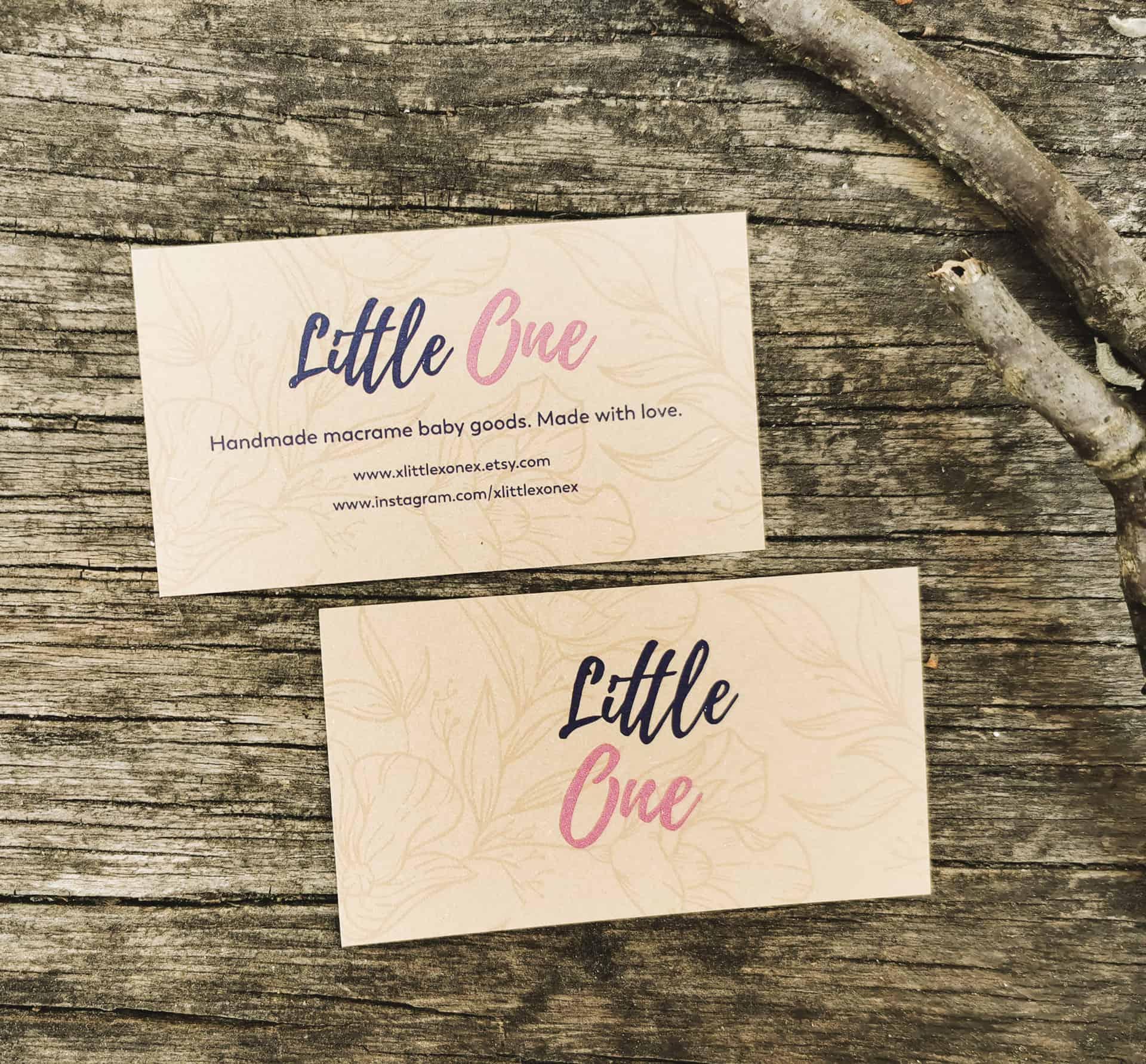 wizytówki ekologiczne dla firmy Little One