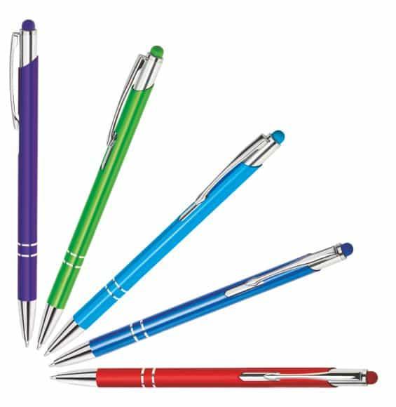prezentacja dostępnych kolorów długopisu bello touch pen