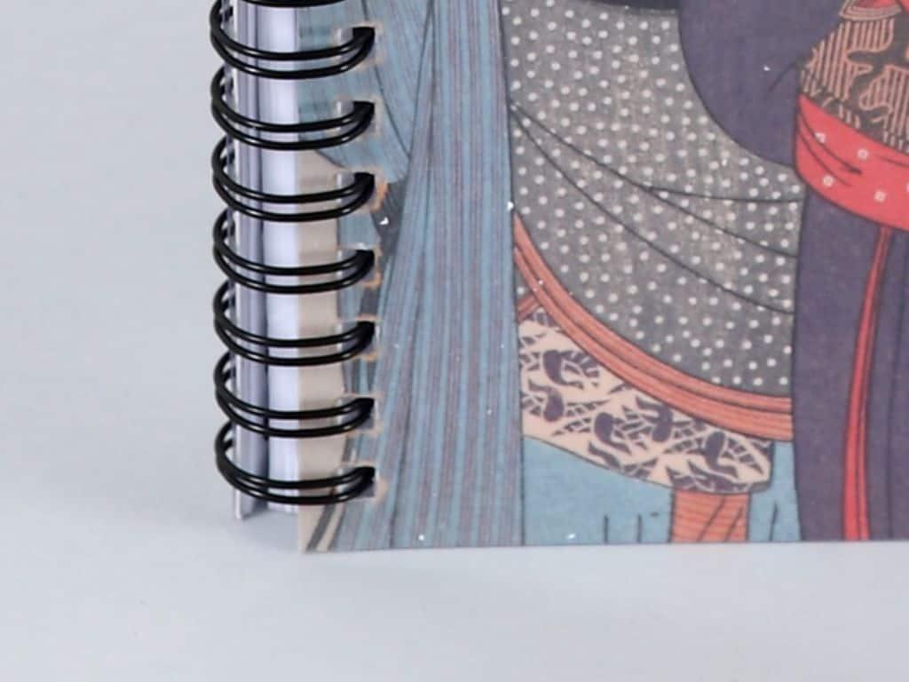 spirala w kalendarzach książkowych