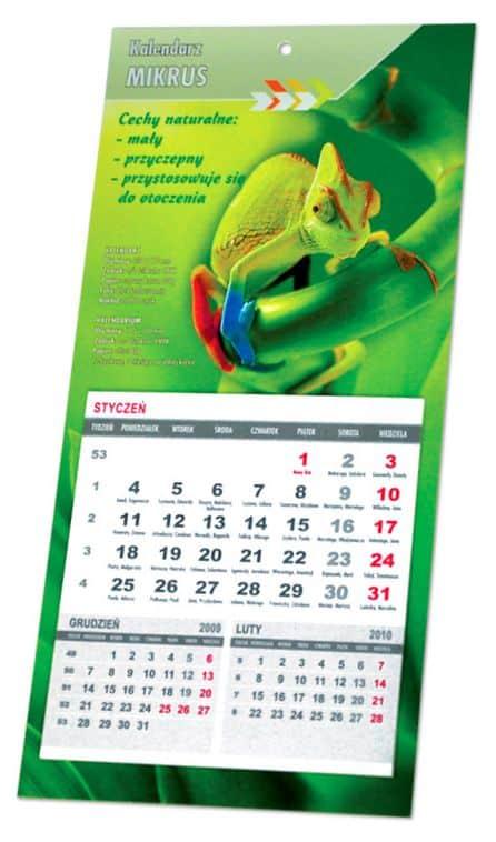 przykładowy kalendarz na lodówkę