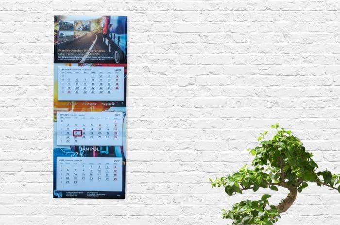wizualizacja kalendarza trójdzielnego