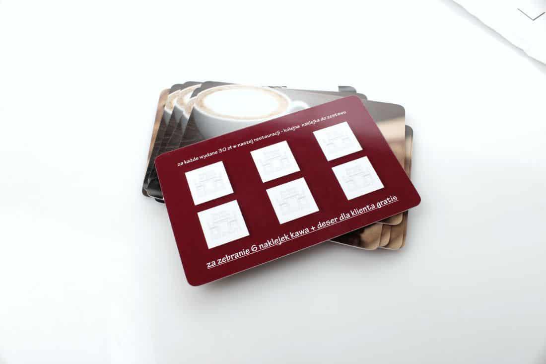 realizacja kart lojalnościowych dla restauracji Podano do stołu