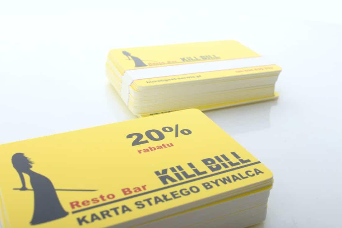 realizacja plastikowych kart lojalnościowych dla resto bar kill bill
