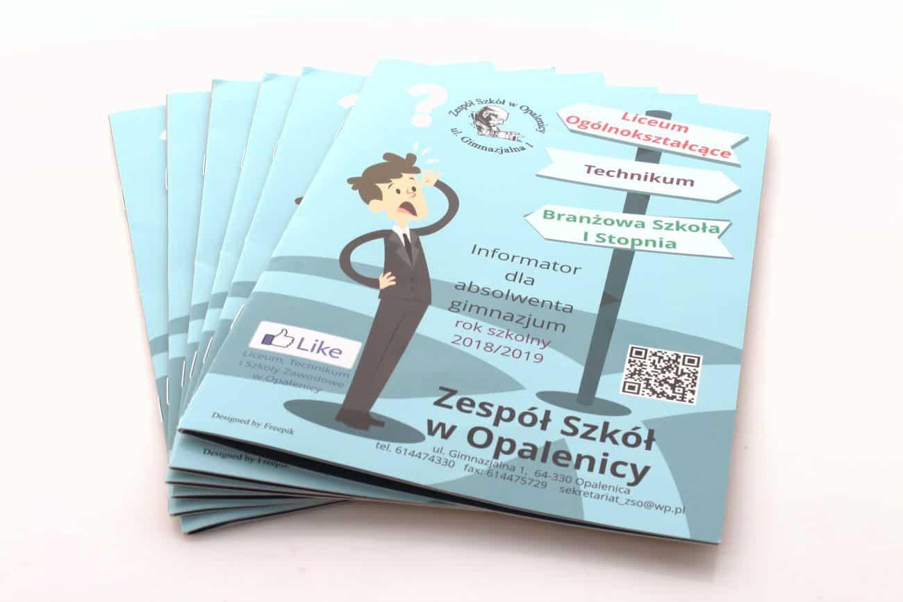 druk katalogu reklamowego dla zespołu szkoły w opalenicy