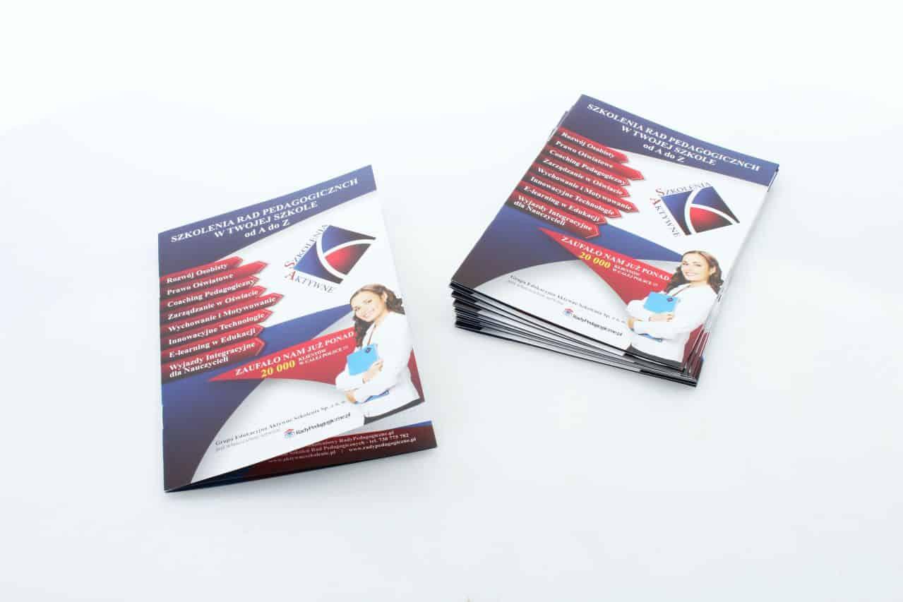 katalogi reklamowe dla klienta Szkolenia Aktywne