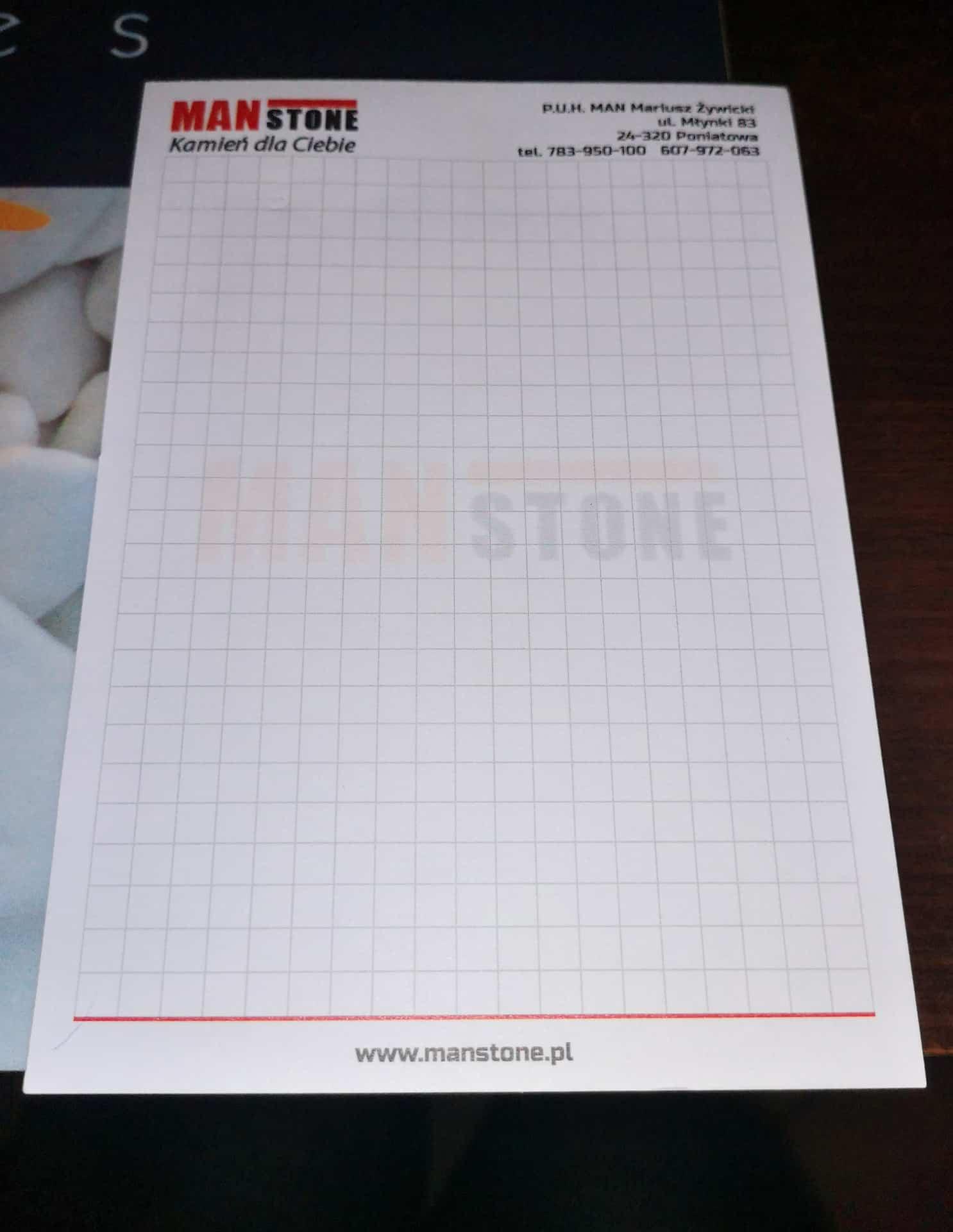 Notesy z logo ManStone