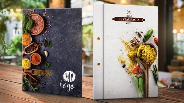 etui na menu dla restauracji z grafiką