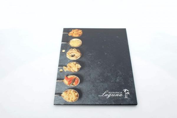 etui na karty menu dla restauracji Laguna