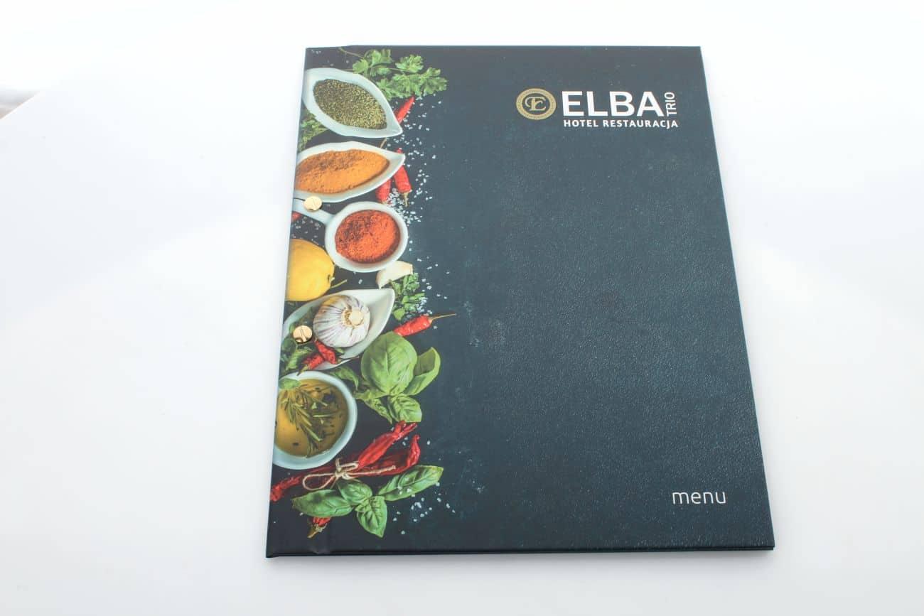 okładki na karty menu dla restauracji Elba
