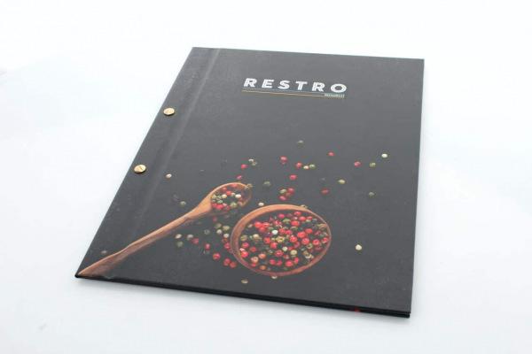 okładki na karty menu dla restauracji Restro