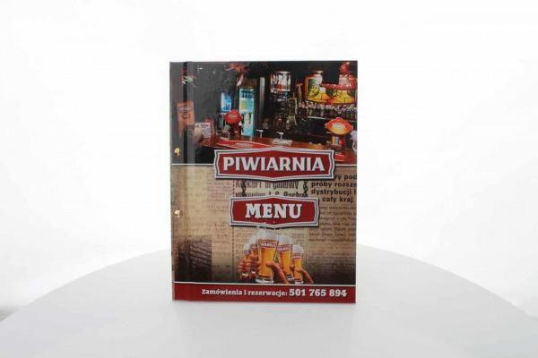 etui na karty menu dla Piwiarni