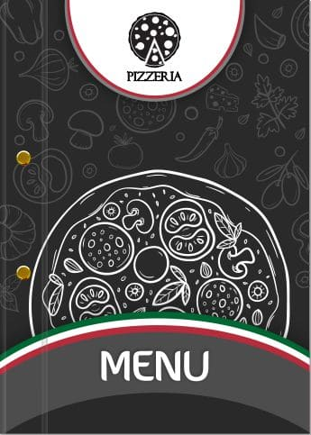 wzór etui do menu z logo