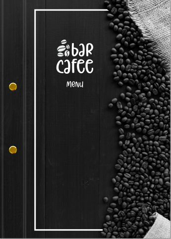 wzór etui do menu z logo kawiarnia