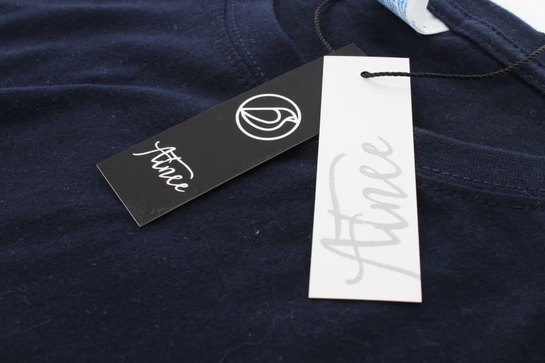 metki odzieżowe z logo Atnee