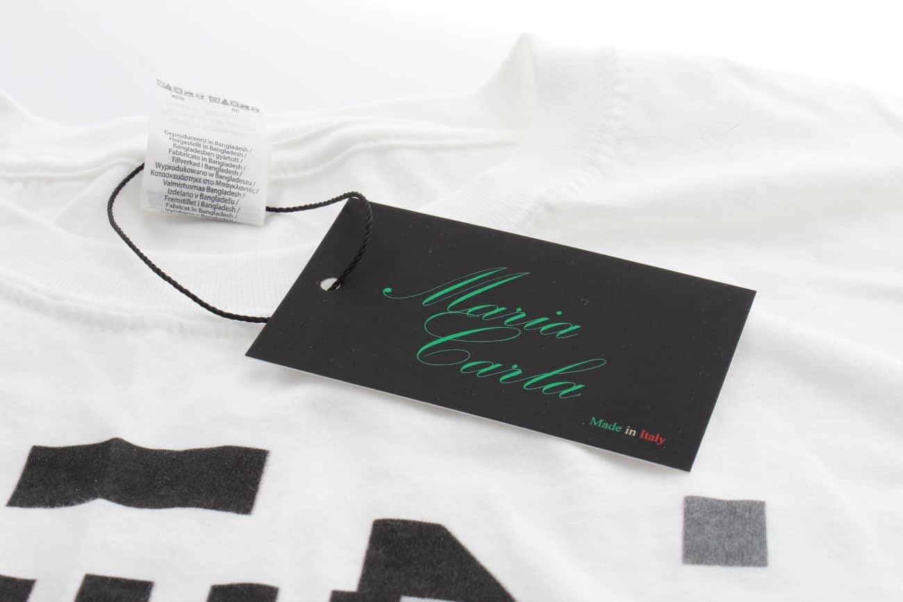 etykiety odzieżowe dla firmy Maria Carla