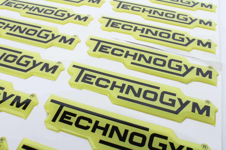 naklejki wypukłe dla TechnoGym