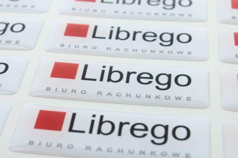 naklejki wypukłe z logo librego nieruchomości 2