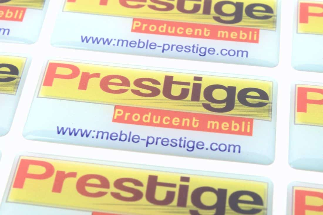 zdjęcie z realizacji na naklejki wypukłe dla marki Prestige