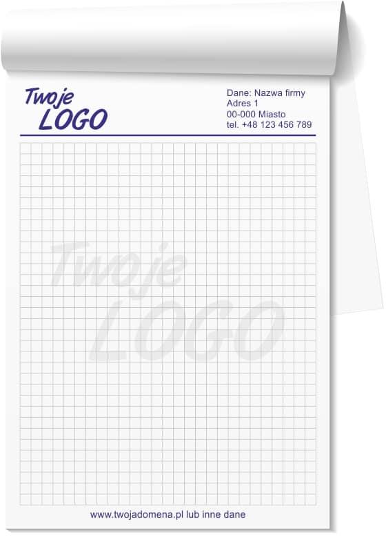 Przykładowy wzór notesu reklamowego