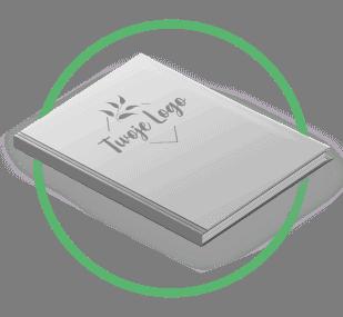 ikonka - notesy z tłoczonym logo