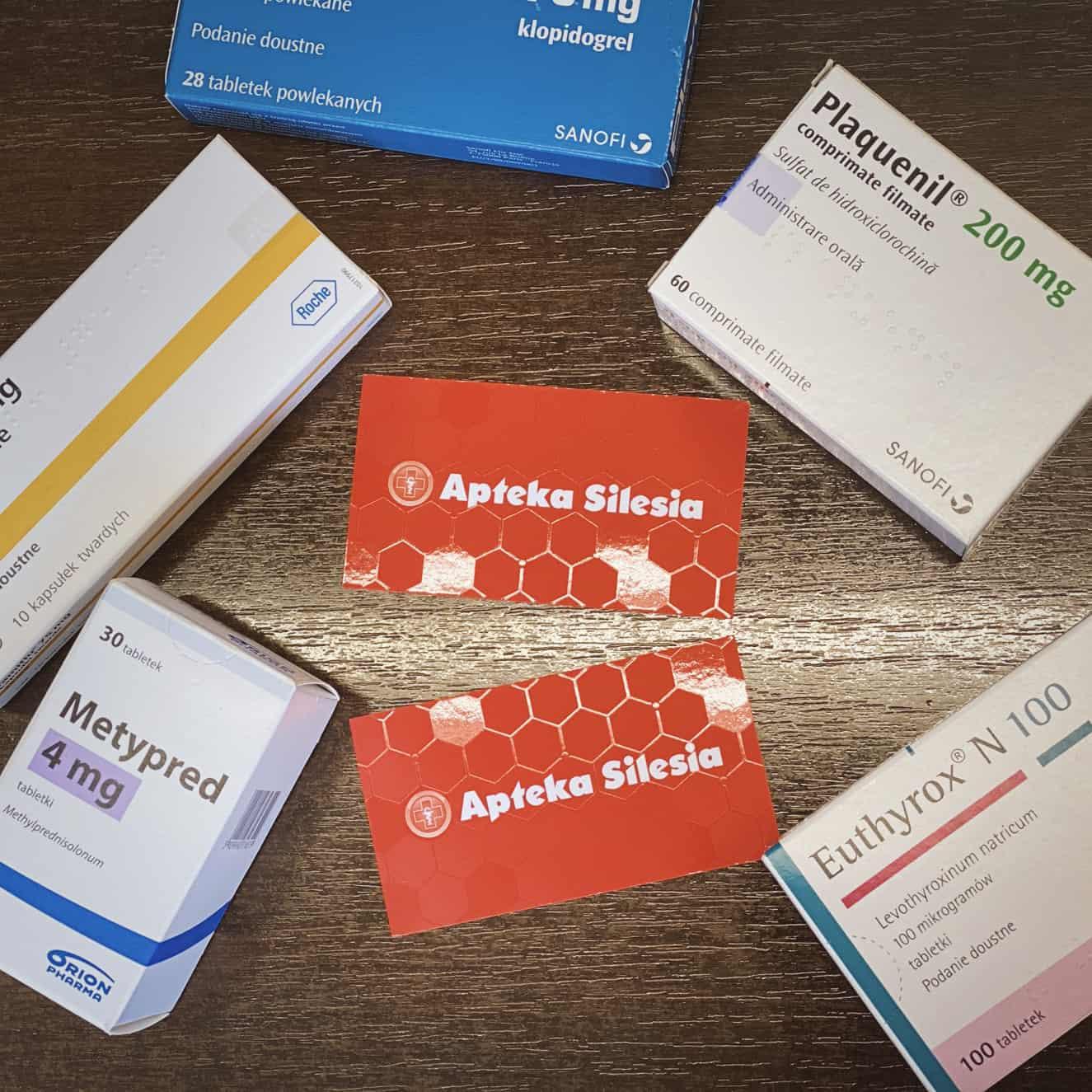 wizytówki firmowe z logo Apteka Silesia
