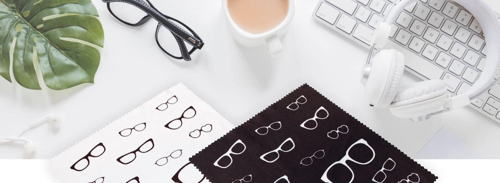 ścierzeczki reklamowe do okularów z nadrukiem