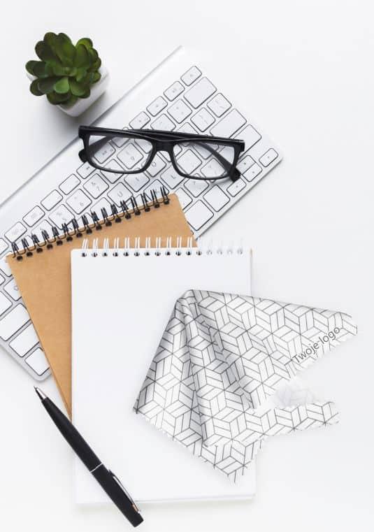 ściereczki do okularów z nadrukowanym napisem Twoje logo
