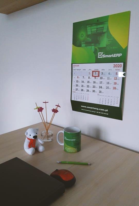kalendarze ścienne jednodzielne z logo SmartERP
