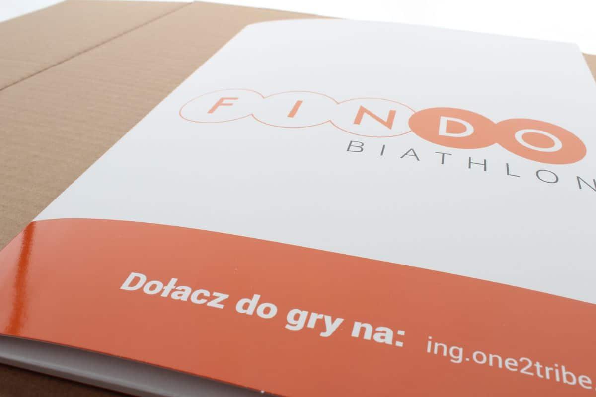 realizacja na teczki reklamowe dla banku ING - FINDO