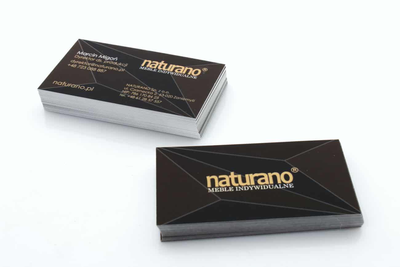 wizytówki dla firmy Naturano
