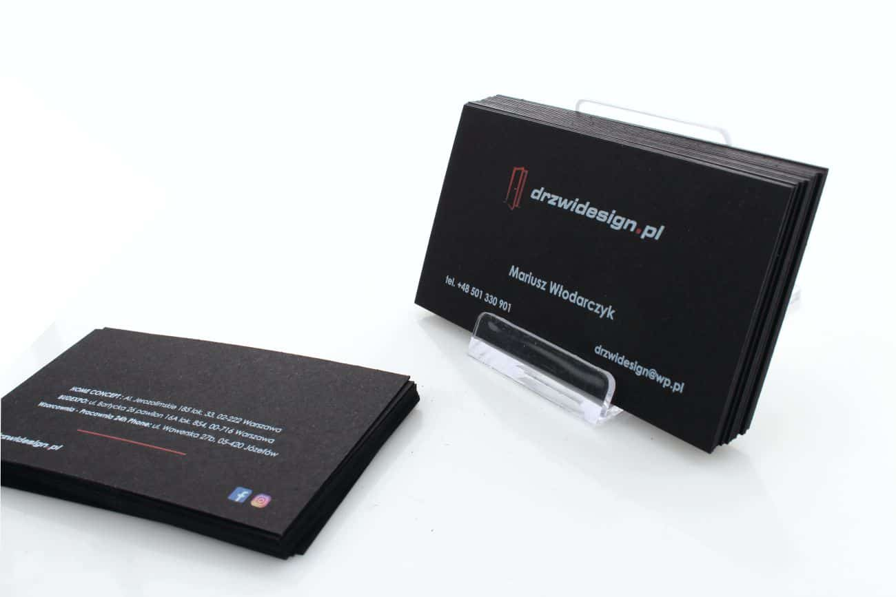 wizytówki barwione dla firmy DrzwiDesign