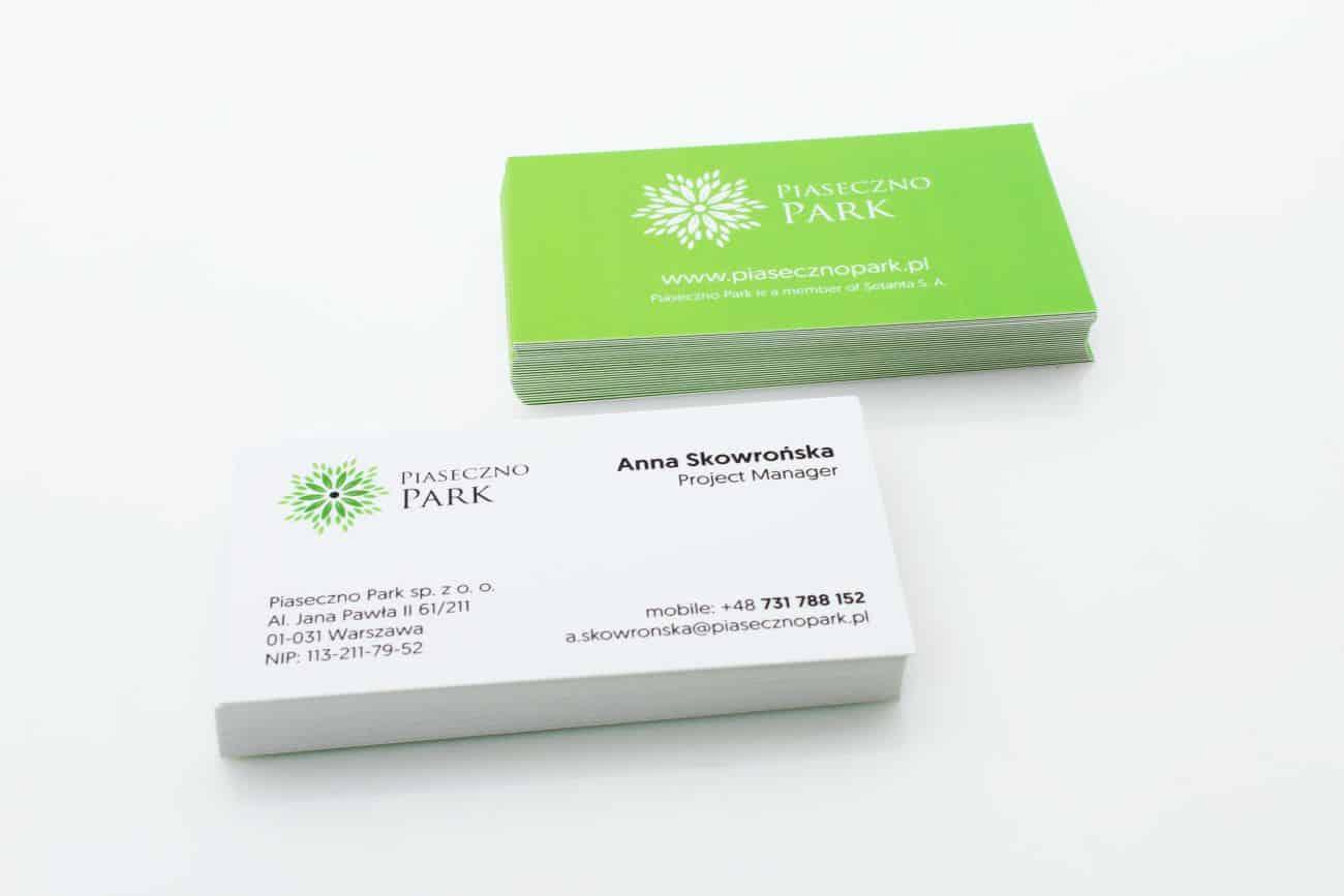 wizytówki firmowe dla Piaseczno Park