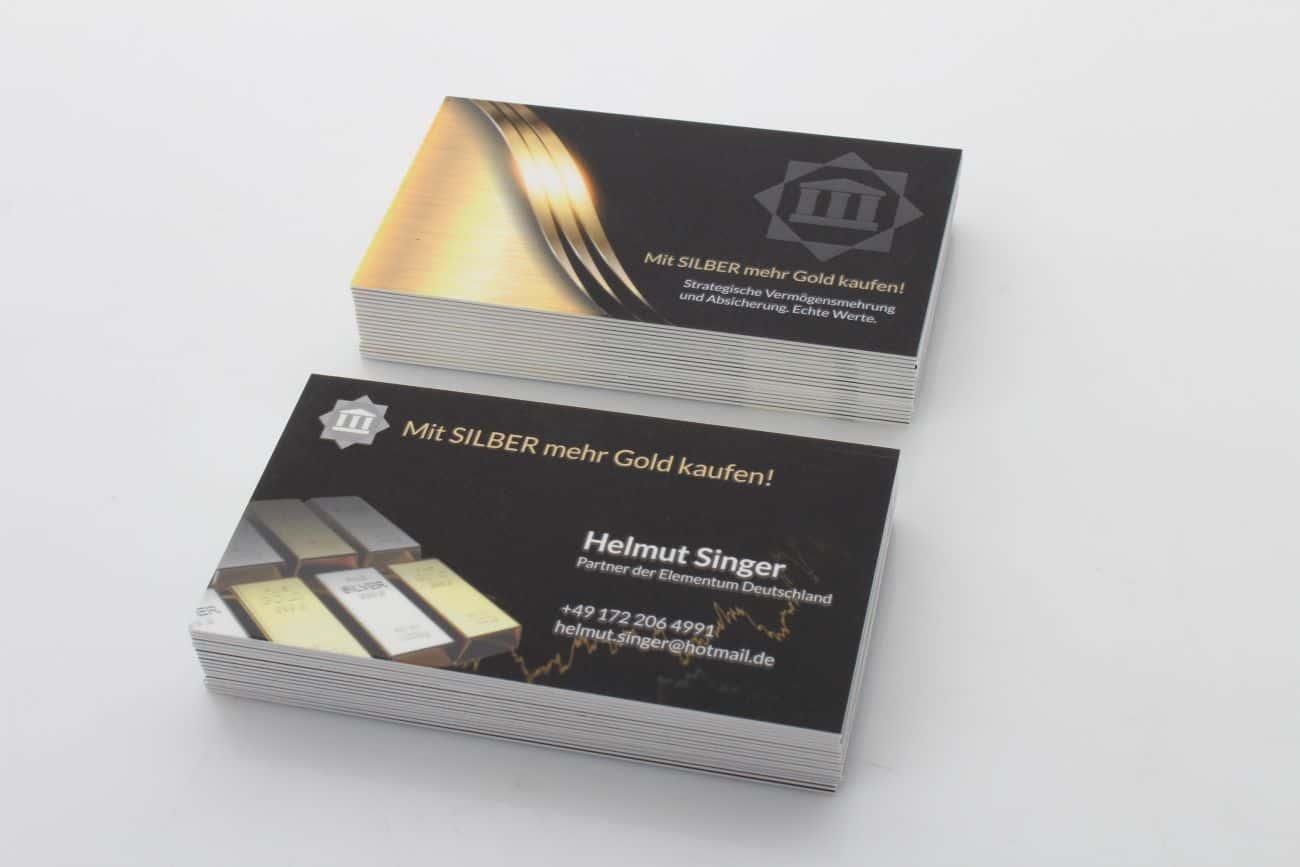 Helmut Singer grube wizytówki 620 g z UV