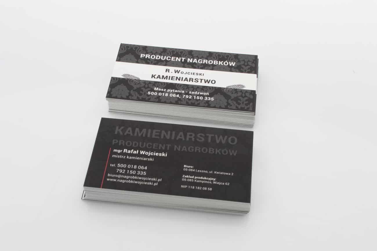 grube wizytówki z lakierem UV dla Producenta Nagrobków